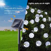 Outdoor Solar Fairy String Lights Ball Globe Festoon Garden Decor Lamp 8 Modes