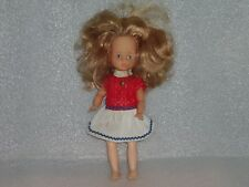 Vintage Cute Ari Rubber Toy Doll In Original Costume, Germany