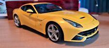 HOT WHEELS ELITE 1/18 Scale Ferrari F12 Berlinetta Yellow - RARE