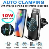 360° Rotation Wireless Automatic Sensor Car Phone Holder and Charger 2 in 1 10W