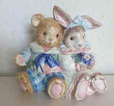 Fitz & Floyd Bear and Bunny Lidded Box