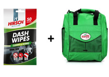 Paquete De 50 Toallitas de limpieza interior Auto Coche Dash y Turtle Wax Valeting Bolsa