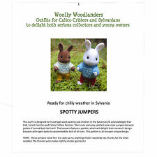 Pois sauteurs Kit Designer Knitting Pattern for Sylvanian Families Adulte & Enfant