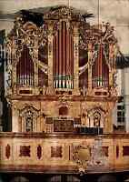 Kirchen Bauwerke AK DDR Ansichtskarte Innenansicht Orge Kirche in WALTERSDORF