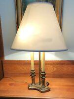 Vintage Frederick Cooper Brass Bouillotte Candlestick Lamp