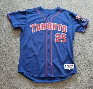 2003 Authentic Majestic Carlos Delgado Toronto Blue Jays Alternate Jersey Sz 50