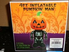 4 Ft Inflatable Halloween Pumpkin man Holiday Lighted Deo