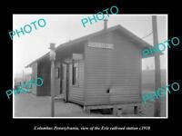 OLD LARGE HISTORIC PHOTO OF COLUMBUS PENNSYLVANIA, ERIE RAILROAD STATION c1910 2