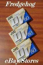 A TOP QUALITY PACK OF 3 x JVC MINI DV DIGITAL VIDEO CAMCORDER TAPES / CASSETTES