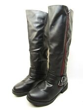 Journee Collection  Lady Side-Zip Riding Womens Boots Black/Red Size 8