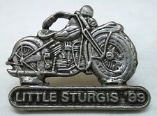 Little Sturgis 1999 Biker Rally Collector Motorcycle Pin, Antique Silver Pl, NEW