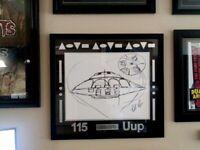 "Bob Lazar Signed Area 51 ""Sport Model"" UFO Print  115 Uup 24 x 26 Ancient Aliens"