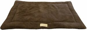 """Ellie-Bo Sherpa Fleece Pet Dog Mat Bed in Brown XL Fits 42"""" Cages and Crates"""