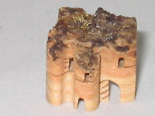 HAND CARVED TREE BARK MINIATURE BUILDING CASTLE?CHURCH?HOUSE? SWITZERLAND 1 1/16