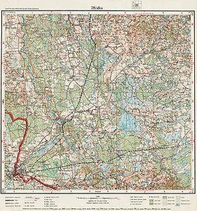 1927 Vintage army topographic map VALKA/ VALGA (Estonia), scale 1:75 000