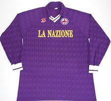 1990-1991 FIORENTINA ABM HOME FOOTBALL SHIRT (SIZE L)
