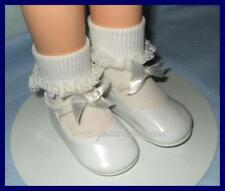 WHITE Patent 3.75 x 1.5 inch Doll Bow SHOES fit CHARMIN CHATTY  U.S. Ships Free