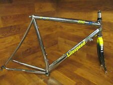 LITESPEED ULTIMATE POLISHED TITANIUM TI ROAD BIKE FRAME 55CM LOOK CARBON FORK