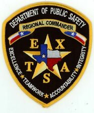 TEXAS TX DEPARTMENT OF PUBLIC SAFETY REGIONAL COMMANDER NEW PATCH POLICE