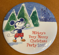 "Disney Mickey's Very Merry Christmas Party 2002 3"" Pinback Button"