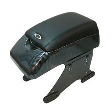 Armrest Centre Console Faux Leather Universal Car Van Minibus Dvd Holder Padded