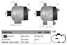 Generator für Generator DENSO DAN1126
