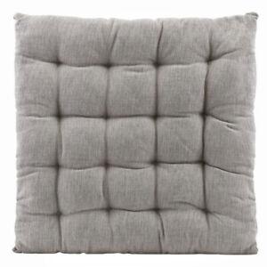 Sitzkissen Stuhlkissen FIELD Grau Sitzunterlage 50 x 50 Gartenmöbel Baumwolle