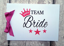 PERSONALISED . TEAM BRIDE. HEN NIGHT. MESSAGE BOOK . GUEST BOOK . SIGNATURE BOOK