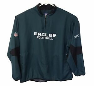 Vintage NFL Authentic Men's Eagles Football Pullover Jacket Size 2XL Green