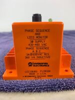 DIVERCIFIED ELECTRONICS PHASE SEQUENCE AND LOSS MONITOR SLA-208-AFN