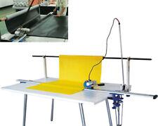 "Techtongda 220V High Speed Fabric Cloth Cutter w/86"" Rack & Digital Counter"