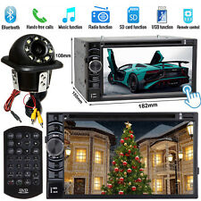 For Honda Accord Civic Double Din Car CD DVD Player Radio Stereo AUX+View Camera