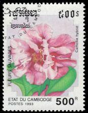 "CAMBODIA 1267 - Wild Flowers ""Camellia hybrida"" (pf58286)"