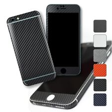 For iPhone 6S & 6S Plus Textured CARBON Fibre Wrap Sticker Decal Protector Skin