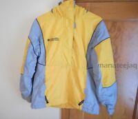 Columbia Women's Size M Medium Winter Jacket Yellow Gray Half Zip Pullover Ski