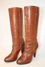 Frye Womens Size 10 M Harlow Campus Leather Tall Pull On Heeled Boots 77341