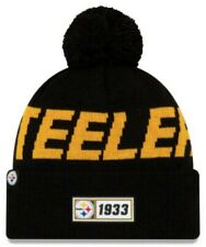 New Era 2019 NFL Pittsburgh Steelers Cuff Knit Hat Road Beanie Stocking Cap Pom