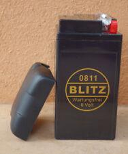 Bateria de moto BLITZ tipo Gel sin mantenimiento 6V-11.5 Ha  BMW R24-R69S