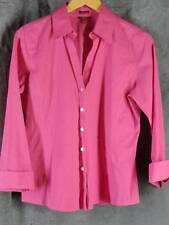 Talbots 10 NWOT Wrinkle Resistant Fuschia 3/4 Sleeve Shirt Blouse NEW