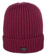 4ce0d84f27b995 ARMANI Jeans Men's Wool Beanie Hat Bordeaux 234 UK M (eu ...