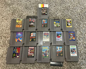 lot of 16 nes games nintendo tetris mario and more tested