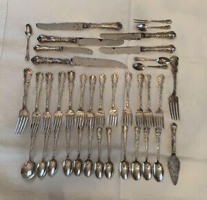 """Louis XV"" Birks Sterling Silver Flatware Not Scrap No Monograms 38pcs 1390gr"
