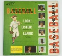 1956 BROOKLYN DODGERS Look, Listen & Learn Record & Photo Book *JACKIE ROBINSON*