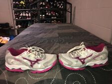 Mizuno Wave Enigma 2 Womens Running Training Shoes Size 7 White Pink Gray