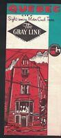 Quebec City Canada 1950s The Gray Line brochure  Motor Coach Tours
