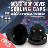 2x HID LED Headlight Dustproof Cover Seal Caps