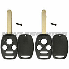 2 New Replacement Keyless Remote Shell Case Fix Key Fob Uncut Blade Without Chip