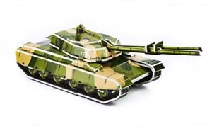 3D Puzzle Tank Educational Puzzle on Map