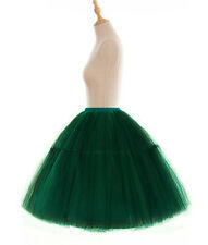 """23"""" 6 Layers Retro Tulle Petticoat Tutu Skirts Womens Crinoline Short Underskirt"""