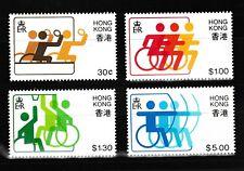 3rd Far Est & So. Pac Jeux pour le Désactivé MNH 4 Timbres 1982 Hong Kong #404-7